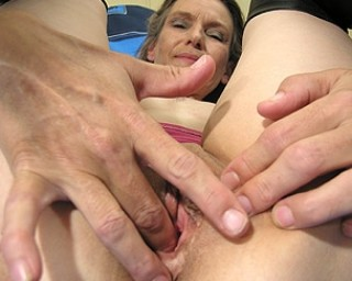 Masturbating milf filmed from her husband
